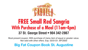 Big fat coupon book st augustine fl