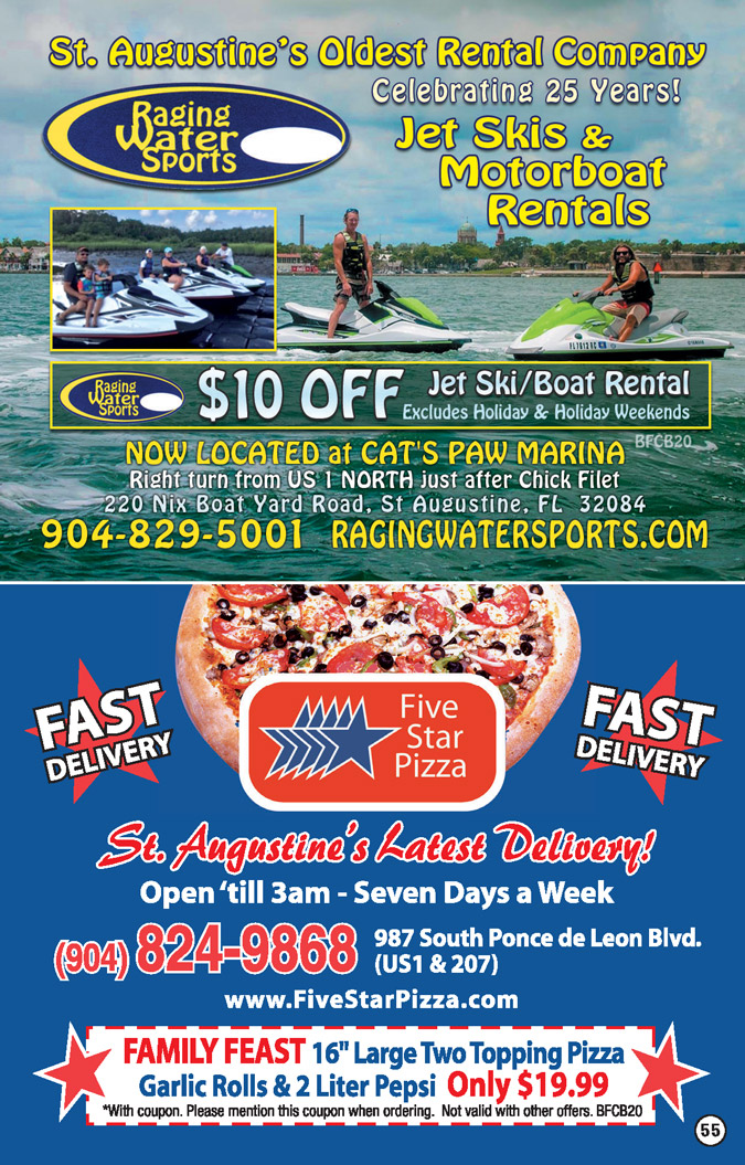 Raging Water Sports. Five Star Pizza Coupons 2017